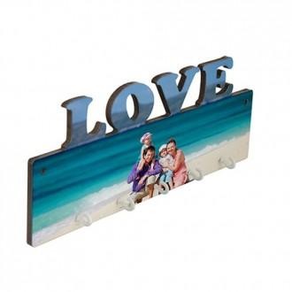 LLAVERO MDF PARED LOVE 5...