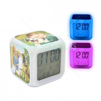 RELOJ DESPERTADOR  LED COLORES