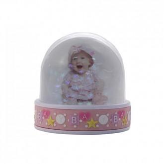 BOLA NIEVE BABY ROSA